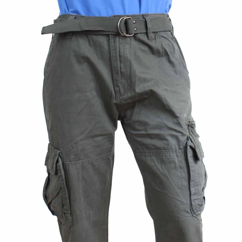 QUATRO kalhoty pánské kapsáče Q1-3 30, šedá