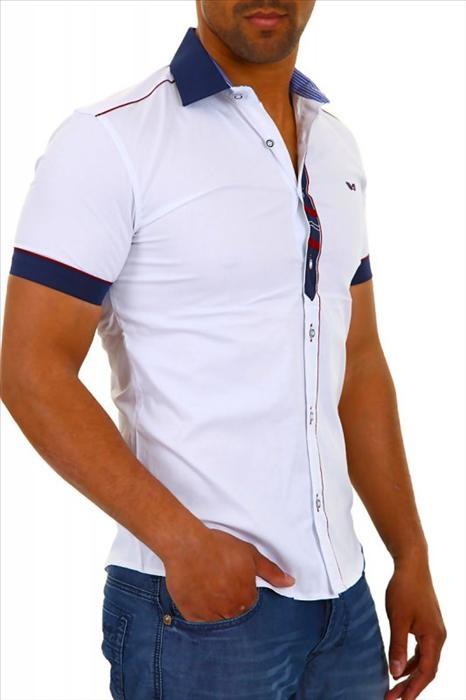 8498b4a32f1e CARISMA košeľa pánska 9008 krátky rukáv slim fit od 25.12 € - Tovar.sk
