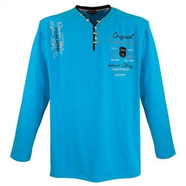 LAVECCHIA tričko pánské LV-704 dlouhý rukáv nadměrná velikost