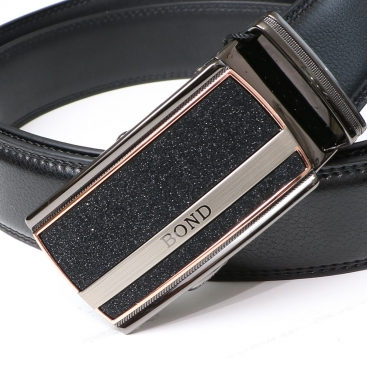 BOND opasok pánský kožený B14 automatická spona 1 šířka 3,5 cm