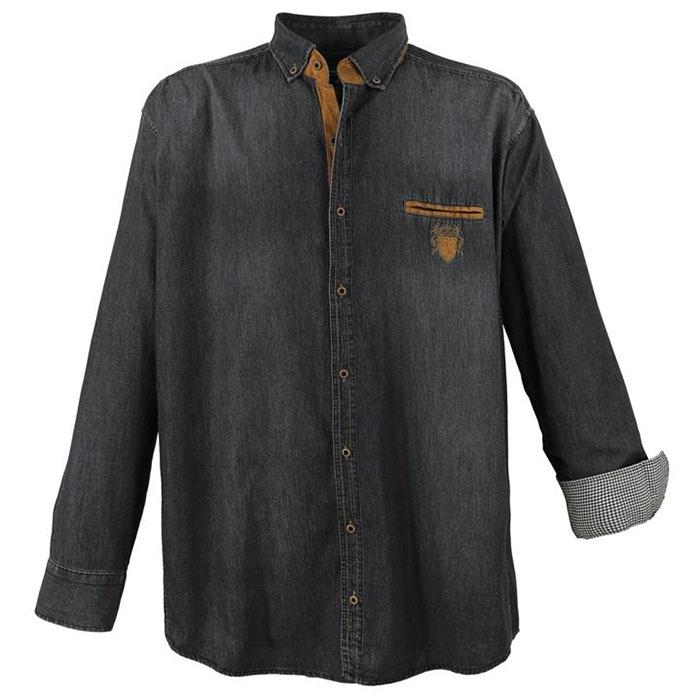cc51dc6c7aa7 LAVECCHIA košeľa pánska 11282 nadmerná veľkosť jeans džínsová - EGO-MAN.CZ