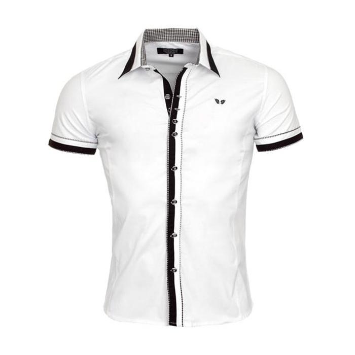 21dd48d4bf0 CARISMA košile pánská 9023 krátký rukáv slim fit - EGO-MAN.CZ