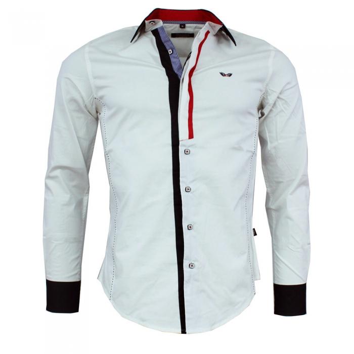 6ed616914d6 CARISMA košile pánská 8037 dlouhý rukáv slim fit bílá