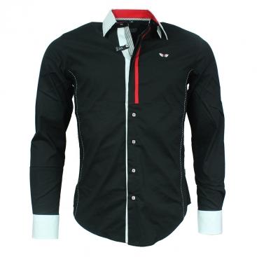 CARISMA košile pánská 8350 dlouhý rukáv slim fit bílá