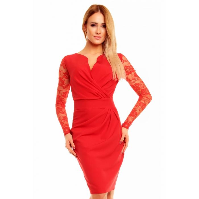 KARTES MODA šaty dámské KM56K s obálkovým výstřihem - EGO-MAN.CZ 0c092c9fd5
