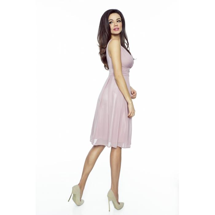 360cb15c76f5 KARTES MODA šaty dámské KM117 šifon obálkový výstřih - EGO-MAN.CZ