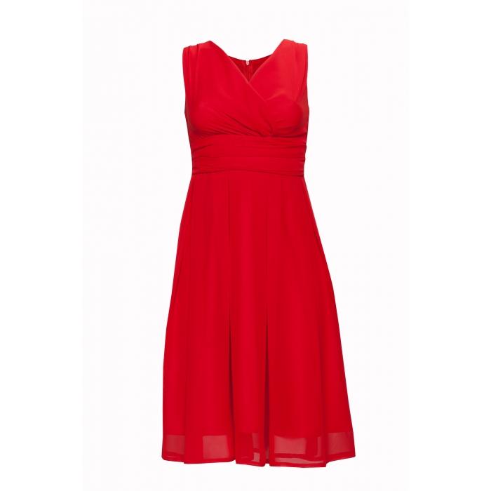 c30e1f05a16d KARTES MODA šaty dámské KM117 šifon obálkový výstřih - EGO-MAN.CZ