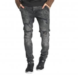Just Rhyse kalhoty pánské Destroyed Straight Fit Jeans Grey