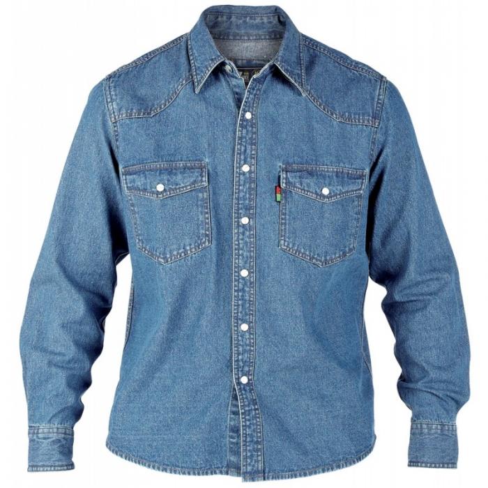 dabc7a1677f DUKE košile pánská KS1023 Western Style Denim Shirt riflová nadměrná  velikost