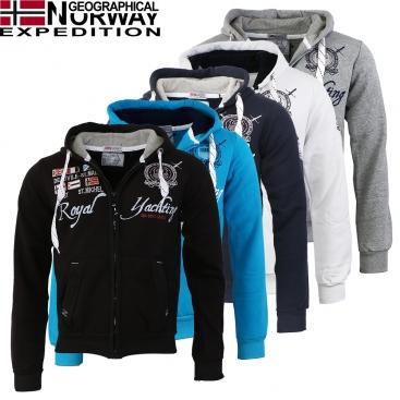 GEOGRAPHICAL NORWAY mikina pánská GRANDIOSE MEN 100 FULL ZIP