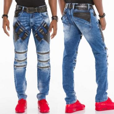 CIPO & BAXX kalhoty pánské CD461 slim fit L:34 jeans džíny