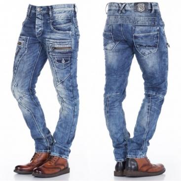 CIPO & BAXX kalhoty pánské C-1178 regular fit L:32 jeans džíny