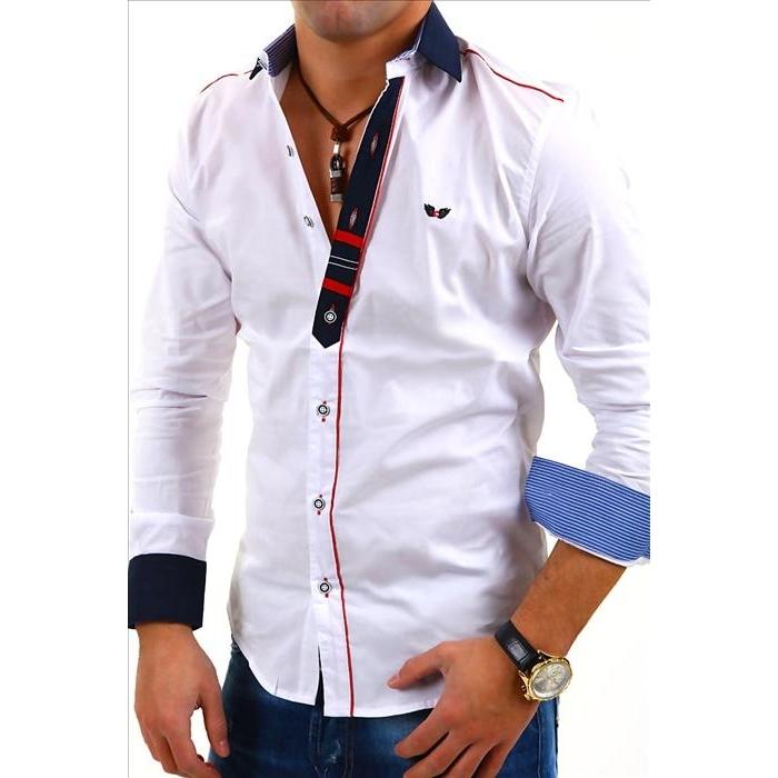 CARISMA košile pánská 8037 dlouhý rukáv slim fit bílá 938fc3406f