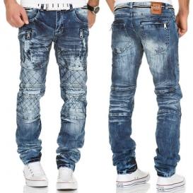 KOSMO LUPO kalhoty pánské KM146 jeans džíny