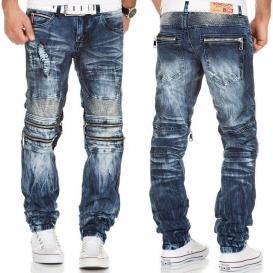 KOSMO LUPO kalhoty pánské KM143 jeans džíny