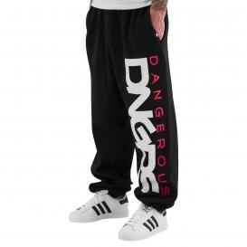 Dangerous DNGRS nohavice pánske Classic Sweat Pants Black/Red tepláky