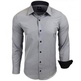 RUSTY NEAL košile pánská R-44 dlouhý rukáv slim fit